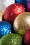 Colour new year balls Royalty Free Stock Photography