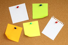 Colour note papers Royalty Free Stock Photo