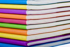 Colour notebook Royalty Free Stock Images