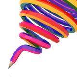 Colour ołówek tło abstrakcjonistyczna linia ilustracji