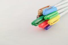 Colour ołówek w rzędzie Fotografia Royalty Free