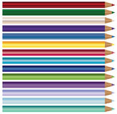 Colour ołówki, kredki ustawiać odizolowywać na białym tle royalty ilustracja