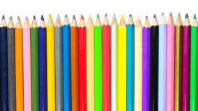 Colour ołówki na białym tle Zdjęcie Royalty Free
