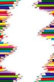 Colour ołówki odizolowywający ilustracja wektor