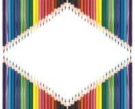 Colour ołówki odizolowywający na białym tle ilustracja wektor