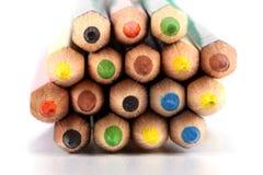 colour ołówki różnorodny Zdjęcia Stock