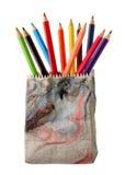 colour ołówki różnorodny Obrazy Royalty Free