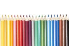 colour ołówki ustawiają Zdjęcie Stock