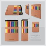 Colour ołówki z Pakować projekt ilustracji
