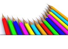 colour ołówek Zdjęcie Royalty Free
