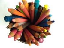 Colour ołówka cenital widok Fotografia Stock