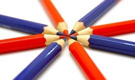 Colour ołówki Zdjęcia Stock