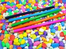 Colour ołówki Zdjęcia Royalty Free