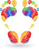 Colour odcisk stopy royalty ilustracja