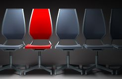 Colour office chairs 3d Stock Images