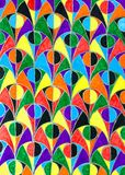 Colour okręgu wzór Zdjęcie Royalty Free