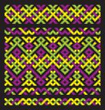Colour ornament embroidery. Colour ornament for embroidery end folklore border Royalty Free Stock Photography