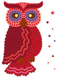 Colour owl made from many buttons Stock Images