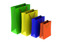 Colour packages Stock Image