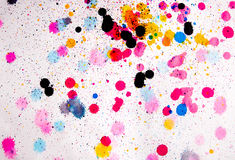 Colour paint blots Stock Photo