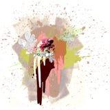Colour Paint Splat Stock Photo