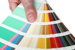 Colour palette. Close up with various colours Stock Photos