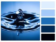 Colour palette swatch. royalty free stock image