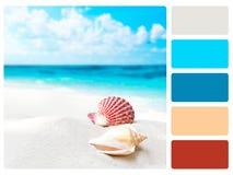 Colour palette swatch. stock image