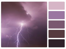 Colour palette swatch Royalty Free Stock Images