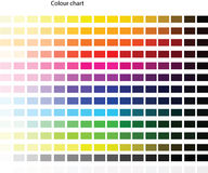 Colour pallet Stock Photography