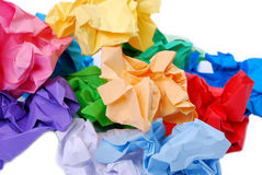 Colour paper Stock Image