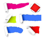 Colour paper. Collection of colour papers. Isolated on the white royalty free illustration