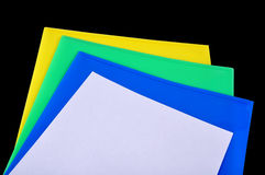 Colour paper. Photo design of a colour paper with black background Royalty Free Stock Photos