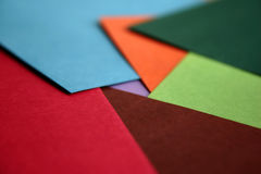Colour Paper. Coloured sheets of paper. Diversity of colours Royalty Free Stock Photography