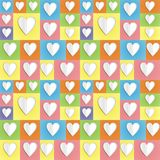 Colour paper heart background Stock Image