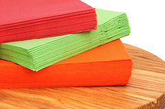 Colour paper napkins Royalty Free Stock Images