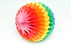 Colour paper sphere Royalty Free Stock Photos