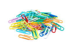 colour paperclips Obraz Stock