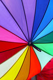 Colour parasol. All rainbow color at open parasol Royalty Free Stock Photos