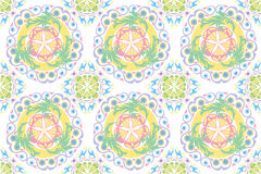 Colour Pattern. Vector colour pattern on white background Stock Photography