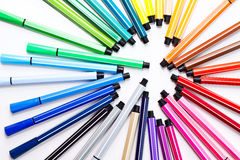 Colour Pen. Collection of colorful pens image colorful set Stock Photo