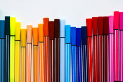Colour Pen. Collection of colorful pens image colorful set Royalty Free Stock Photo