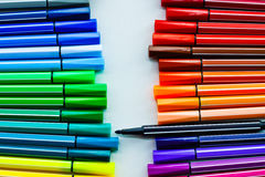 Colour Pen. Collection of colorful pens image colorful set Royalty Free Stock Images
