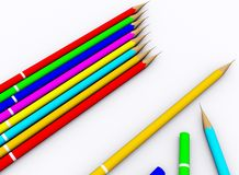 Colour pencil Stock Images