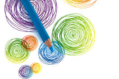 Colour pencil background Royalty Free Stock Images
