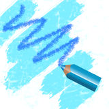 Colour pencil blue Royalty Free Stock Photos