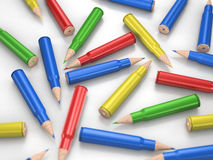 Colour pencil bullets Royalty Free Stock Image