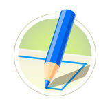 Colour pencil for drawing Stock Image