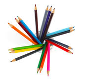 Colour pencil in glass Royalty Free Stock Image