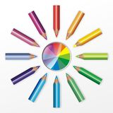 Colour pencil illustration Stock Photo